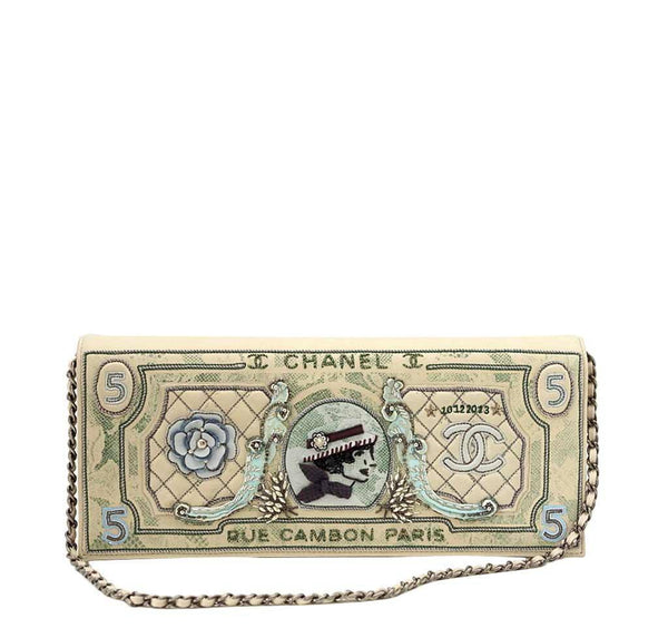 chanel dollar bag runway limited edition new front