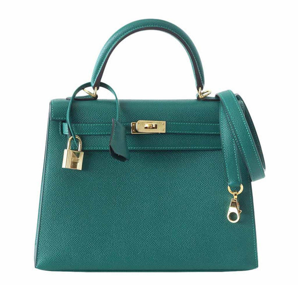 Hermes Kelly Gold Hardware 28 Malachite