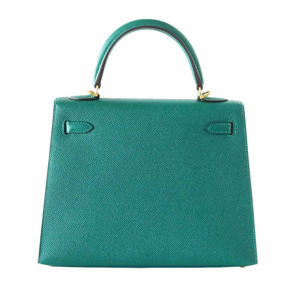 hermes kelly sellier 28 malachite new back