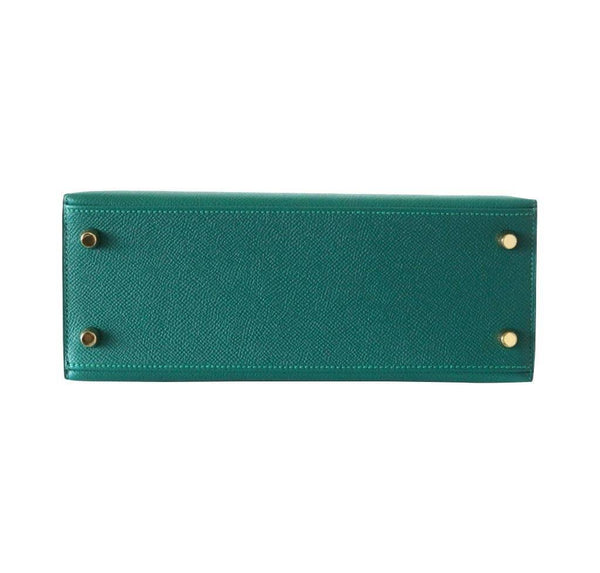 hermes kelly sellier 28 malachite new bottom