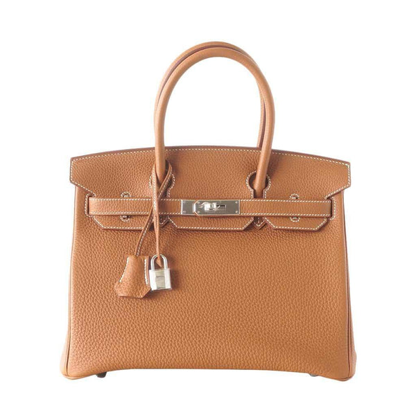 Hermes Birkin 30 Bag Gold Togo