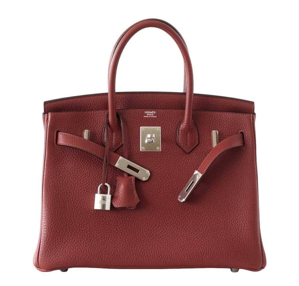 Hermes Birkin 30 Rouge H new front open