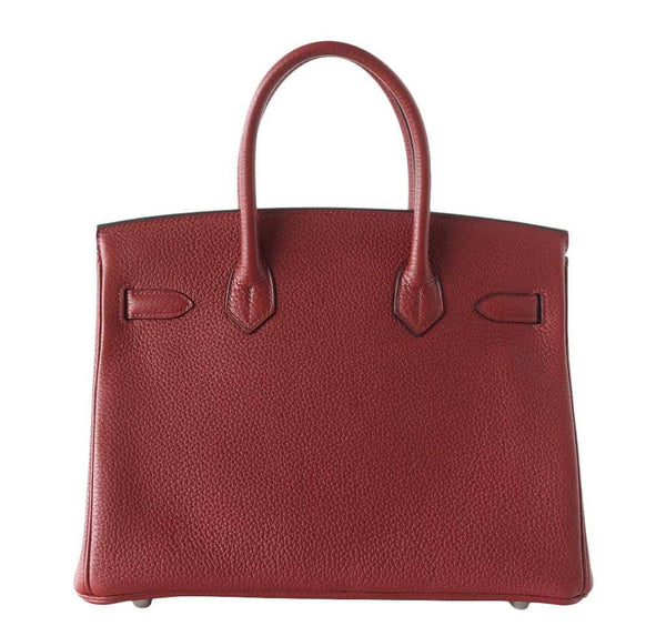 Hermes Birkin 30 Rouge H new back