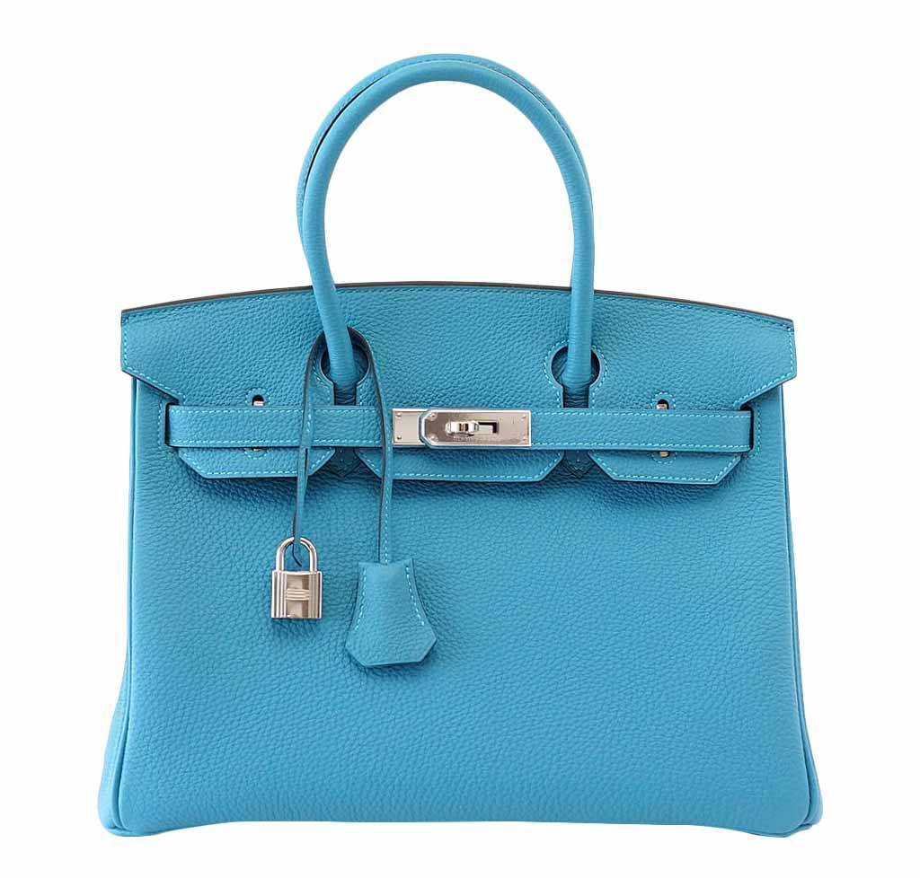 hermes wallets prices - Hermes Birkin 30 Turquoise - Togo Leather PHW | Baghunter
