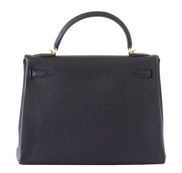Hermes Kelly 32 Black new back