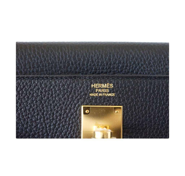 Hermes Kelly 32 Black new embossing