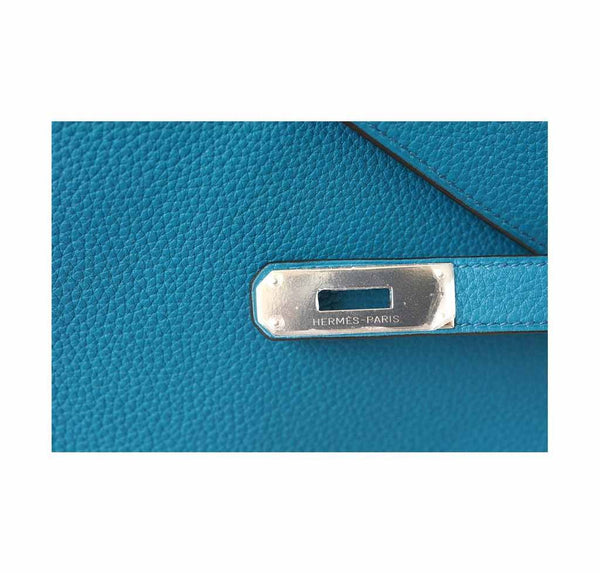 Hermes Kelly Mou 32 Blue Izmir new engraving