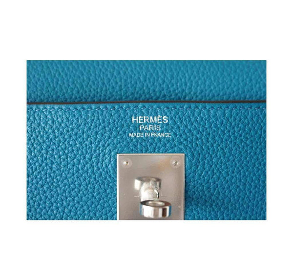 Hermes Kelly Mou 32 Blue Izmir new embossing