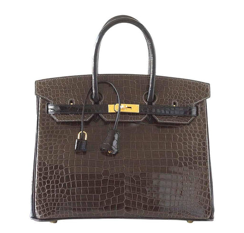 Hermes Birkin 35 Crocodile Bag