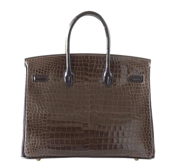 hermes birkin 35 bicolor porosus crocodile new back