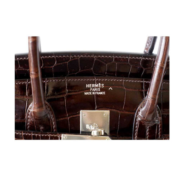 Hermes Birkin 35 Chocolate Crocodile new embossing
