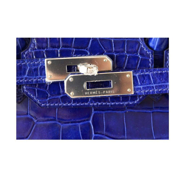 Hermes Birkin 35 Crocodile Electric Bleu new engraving