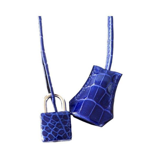 Hermes Birkin 35 Crocodile Electric Bleu new lock