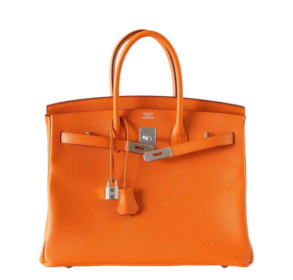 Hermes Birkin 35 H Orange new front