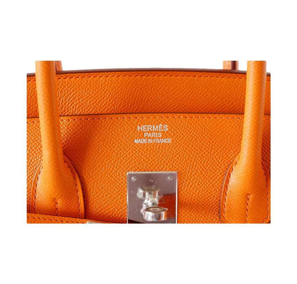Hermes Birkin 35 H Orange new embossing