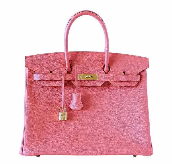 Hermes Birkin 35 Flamingo Epsom Bag