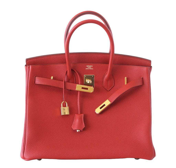 hermes birkin 35 vermillion new front open