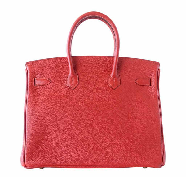 hermes birkin 35 vermillion new back