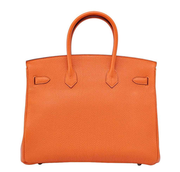 hermes birkin 35 h orange new back