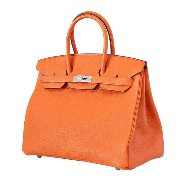 hermes birkin 35 h orange new side