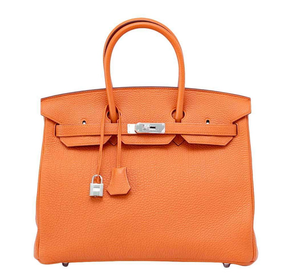 Hermes Birkin 35 Orange Togo Bag