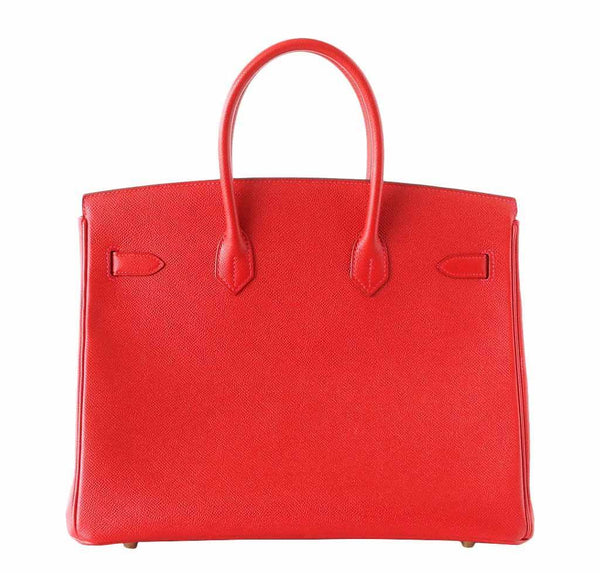 Hermes Birkin 35 Rouge Casaque new back