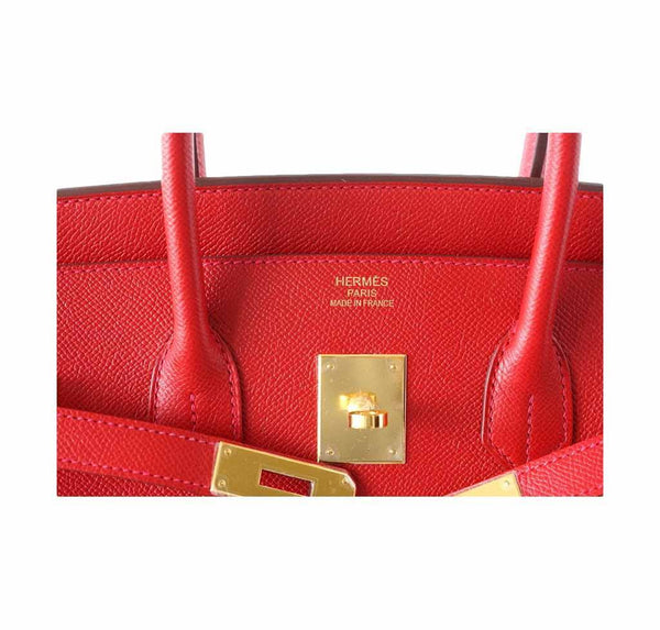 Hermes Birkin 35 Rouge Casaque new embossing
