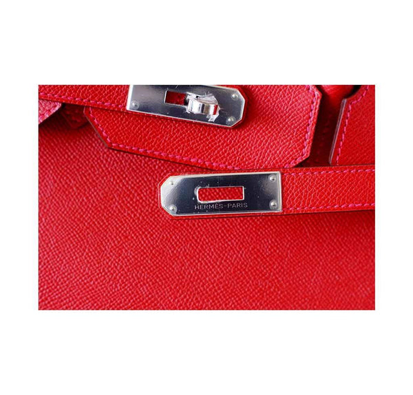 Hermes Birkin 35 Rouge Casaque new engraving