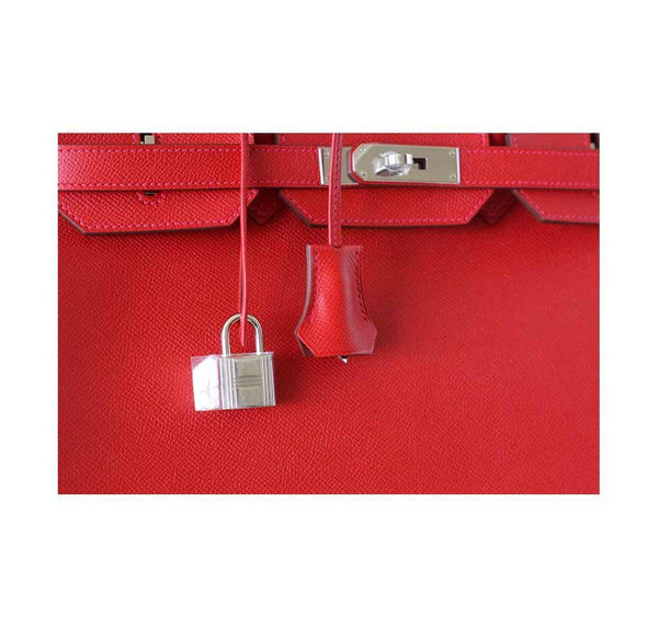 Hermes Birkin 35 Rouge Casaque new lock