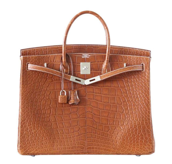 hermes birkin 40 fauve alligator new front open