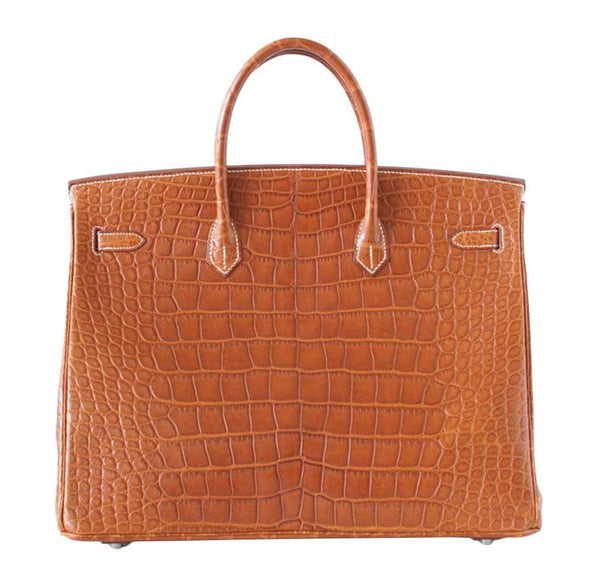 hermes birkin 40 fauve alligator new back