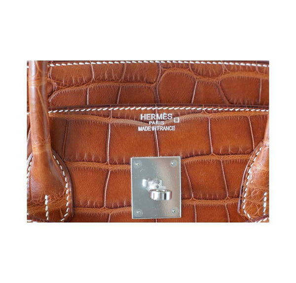 hermes birkin 40 fauve alligator new embossing