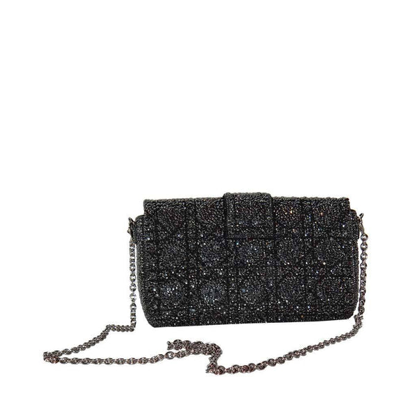 dior crystal bag customized swarovski used back