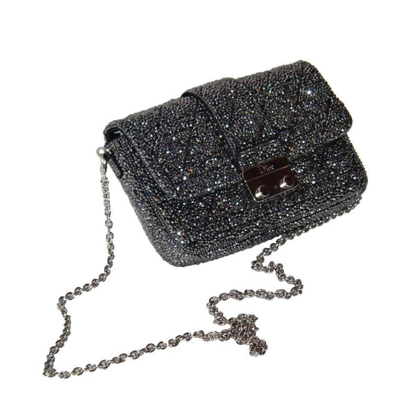 dior crystal bag customized swarovski used side