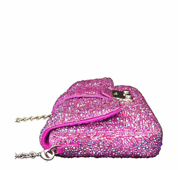dior crystal swarovski bag side