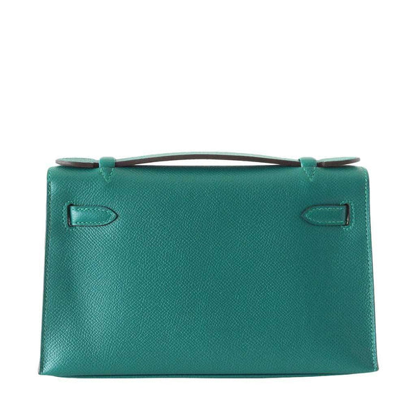 Hermes JPG Kelly Pochette Malachite new back