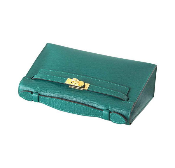 Hermes JPG Kelly Pochette Malachite new top