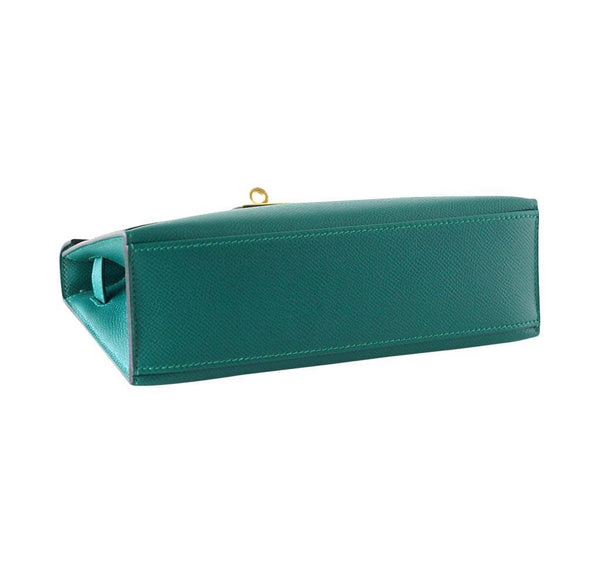 Hermes JPG Kelly Pochette Malachite new bottom
