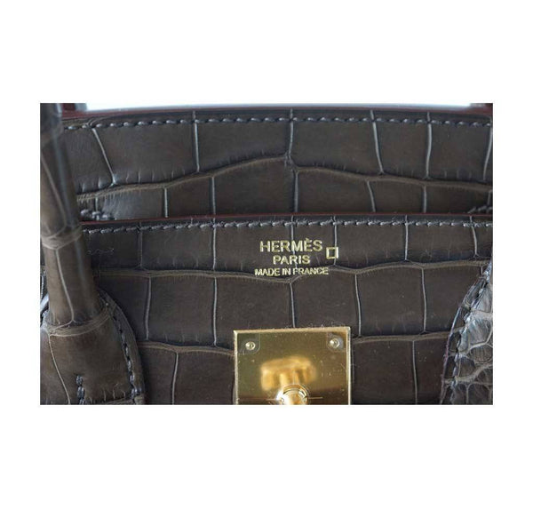 hermes birkin 30 gris elephant alligator new embossing
