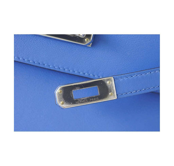 Hermes JPG Kelly Pochette Blue Paradise new engraving