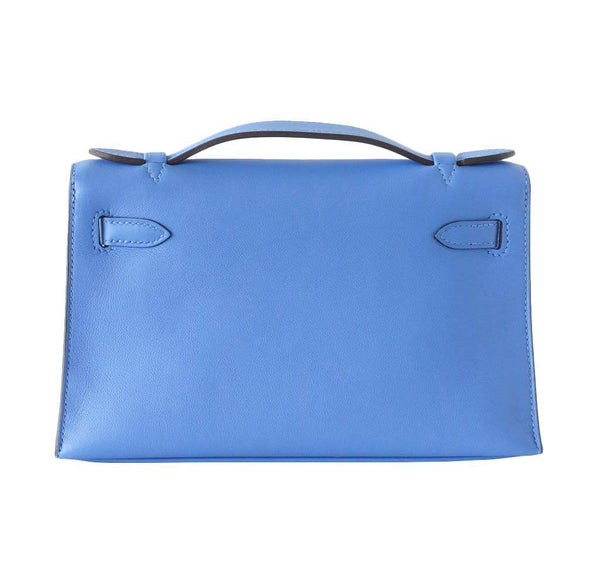Hermes JPG Kelly Pochette Blue Paradise new back