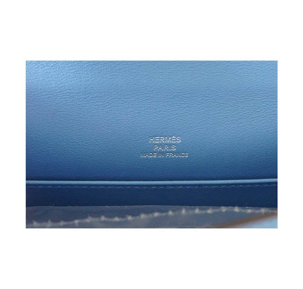 Hermes JPG Kelly Pochette Blue Paradise new embossing
