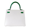 Hermes Kelly Sellier HSS 25 White Epsom Palladium excellent back