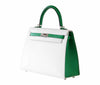 Hermes Kelly Sellier HSS 25 White Epsom Palladium excellent side right