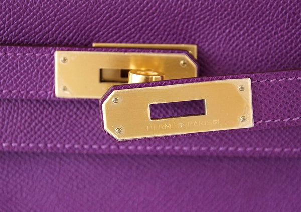 Hermès Kelly HSS 28 Two-Tone Anemone Rose Confetti brushed gold pristine clasp