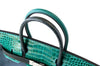 Hermes Birkin 30 Patchwork Vert Crocodile Limited Edition Palladium pristine closure