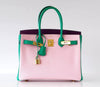 Hermès Birkin 30 Tri-Color Chevre Horseshoe gold pristine front open