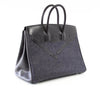 Hermes Birkin 35 Limited Edition Denim Shadow excellent front side left