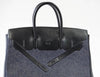 Hermes Birkin 35 Limited Edition Denim Shadow excellent straps