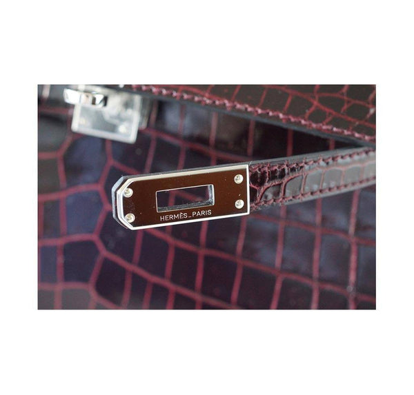 Hermes JPG Kelly Pochette Bordeaux new engraving